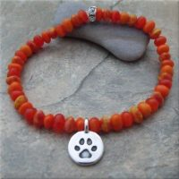 Orange Pawsitive Paws Bracelet