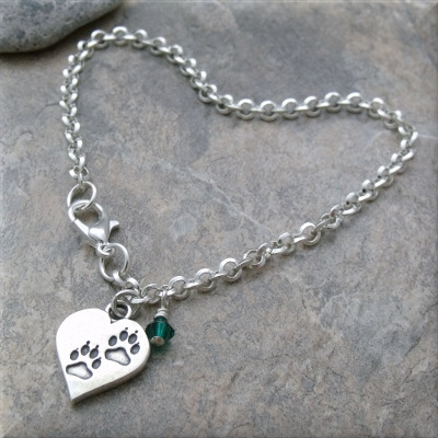 Paws In Your Heart Charm Bracelet