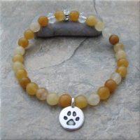 Yellow Pawsitive Paws Bracelet