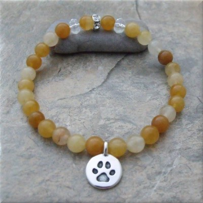 Yellow Pawsitive Paws Bracelet