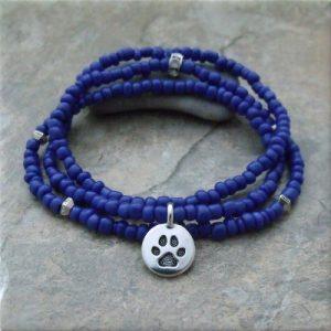 Blue Pawsitive Paws Bracelet