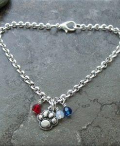 Patriotic Paws Crystal Bracelet