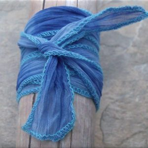 blue infinity paw and heart fabric wrap bracelet2