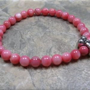 pink shell dog bone stretch bracelet2