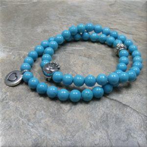 turquoise paw heart bracelet3