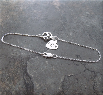 paw mom sterling bracelet4