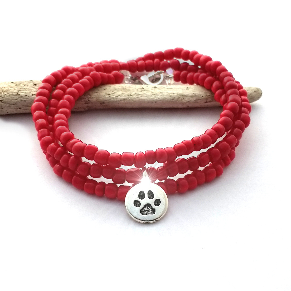 red-pawsitive-paws-wrap-bracelet